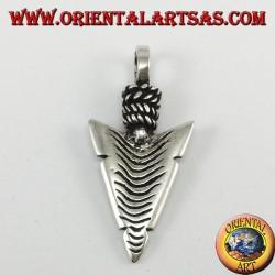 Ciondolo d'argento: punta di frecce dei nativi Americani