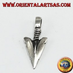 Silver Pendant: Small Tip of American Native Arrows