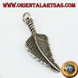 Ciondolo d'argento piuma stile nativi Americani