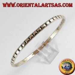 Bracciale d'argento 925, tondo con intagli