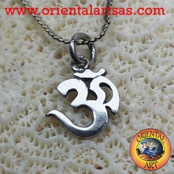Silver pendant OM Oṁ Óm and Aum sacred syllable