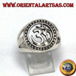 Silver ring, syllable Oṃ the most sacred