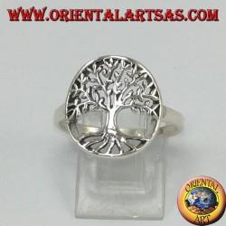 Anillo de plata con árbol de la vida