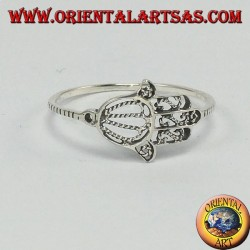 Silver ring with a fatima hand, small