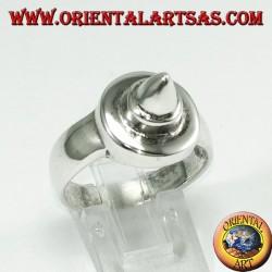 Anello in argento punteruolo (tondo con punta)