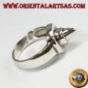 Серебряное кольцо, шило (круглое с наконечником)