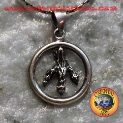 Silver pendant, eagle claw