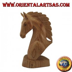 Horse head in American pine wood 20 cm