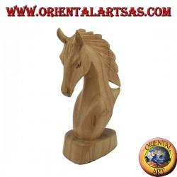 Testa di cavallo in legno di pino americano cm 15