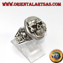 925 silver ring Skull on coffin