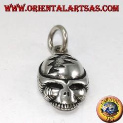 Ciondolo in argento 925 a teschio alieno