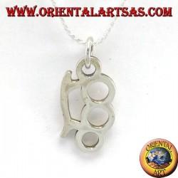 Ciondolo in argento tirapugni cazzottiera
