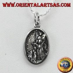 Colgante de plata, San Miguel y ángel de la guarda (pequeño)