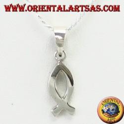 Ciondolo in argento Ichthys simbolo della cristianità