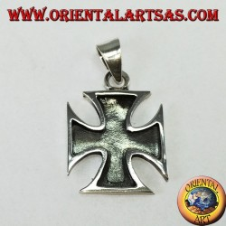 Silver pendant Cross of the Templars