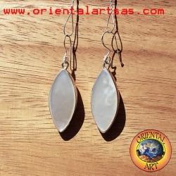 Orecchini d'argento con madreperla ellisse