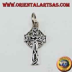 Pendentif en argent, croix celtique avec des noeuds de tyrone (petit)