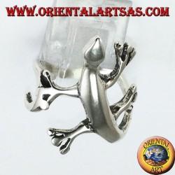 Anello Geco Gekkonidae in argento
