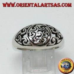 Anello in argento con Antahkarana (simbolo di meditazione e guarigione)