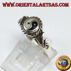 Tao yin-yang silver ring (Small)