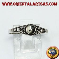 Tao yin-yang silver ring (Small) with dots