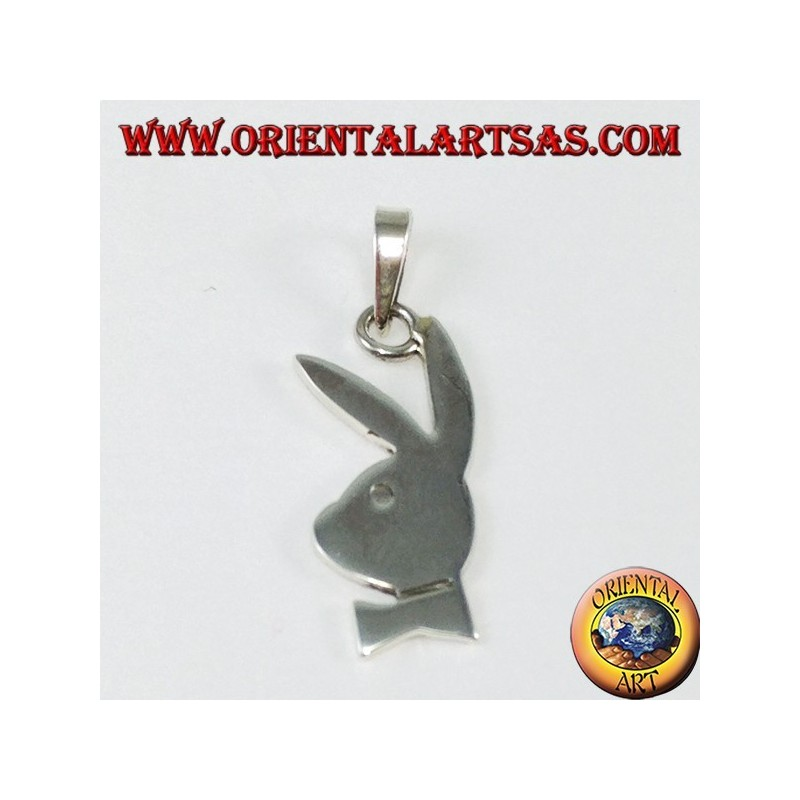 Silver playboy bunny pendant small oriental art sas bari silver playboy bunny pendant small aloadofball Image collections