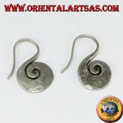 Boucles d'oreilles en argent faites main