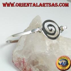 Bracciale rigido in argento 925 con spirale