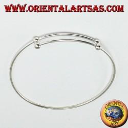 Rigid bracelet in 925 silver, to add pendants