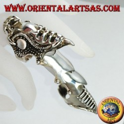 Medieval armor ring solid silver