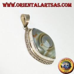 pendentif en argent, Oeil de Shiva