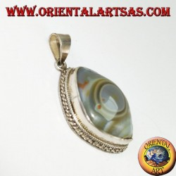 silver pendant, Eye of Shiva
