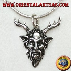 Cernunnos silver pendant symbol of strength