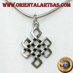 Ciondolo in argento Shrivatsa simbolo di buon auspicio