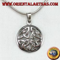 Silberanhänger, Duleek-Knoten Keltisches Symbol (groß)