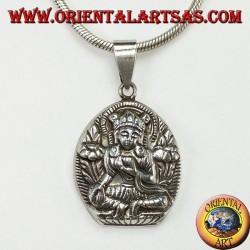 Silver pendant Parvati wife of Shiva
