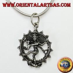 Silver pendant, Shiva nataraja cosmic dance