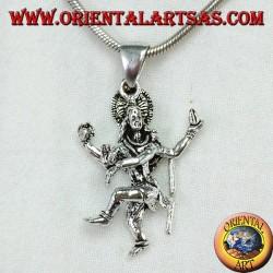 Shiva pendant in silver