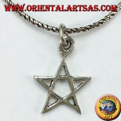Silver pendant in pentacle (star) small
