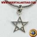 Ciondolo in argento a pentacolo (stella) piccola