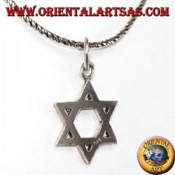 Silver pendant with a six-pointed star of David