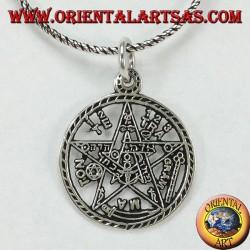 Tetragrammaton pentagram pendant in silver