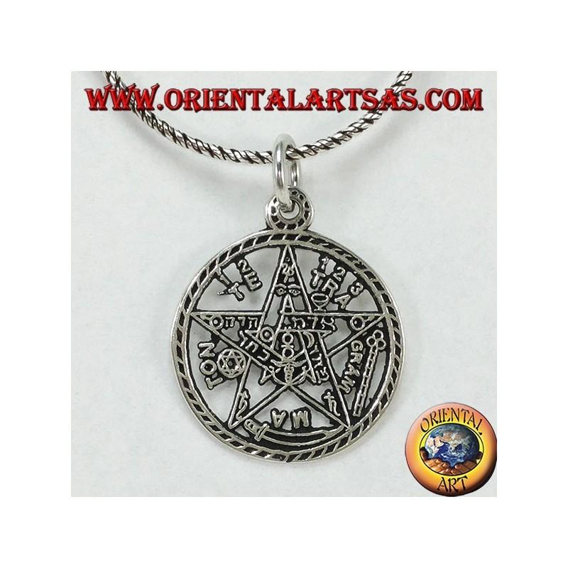 Tetragrammaton pentagram pendant in silver oriental art sas bari tetragrammaton pentagram pendant in silver aloadofball Images