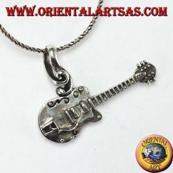Ciondolo in argento Chitarra Elettrica modello Gibson