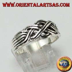 Rings silver intertwining type Turkish faith