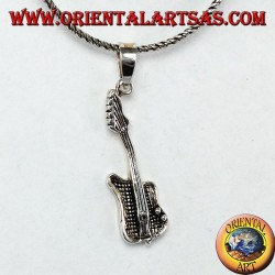 Silver pendant Small Electric Guitar