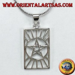 Silver pendant, pentacle in the sun (star in the sun)