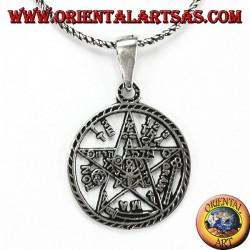 Ciondolo in argento 925‰ pentagramma di Tetragrammaton