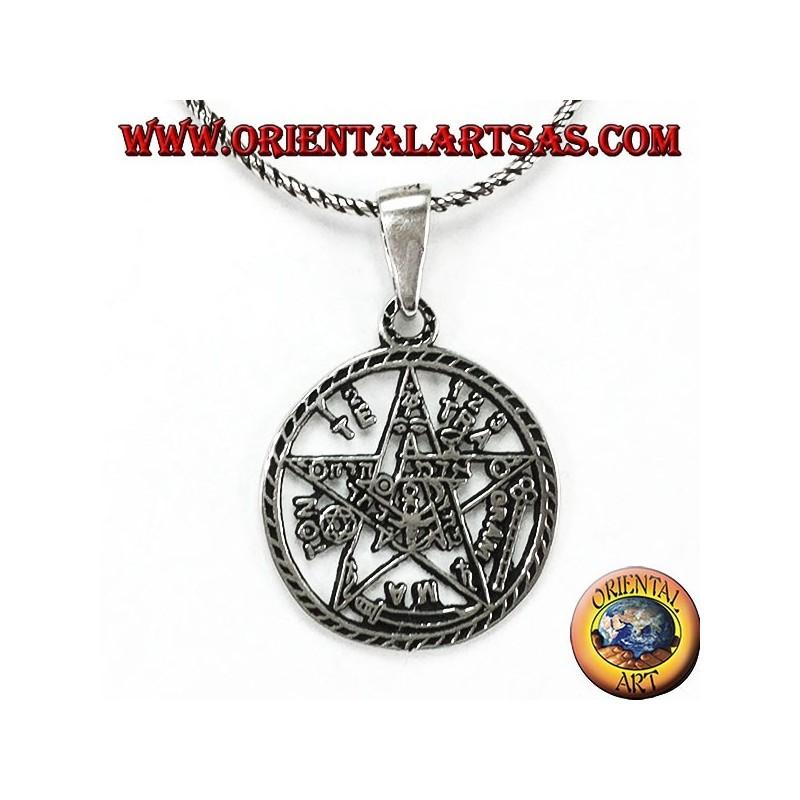 Silver pentagram pendant from tetragrammaton oriental art sas bari silver pentagram pendant from tetragrammaton aloadofball Choice Image