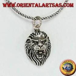Colgante en plata de argento 925, cabeza de león